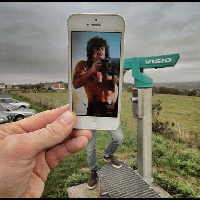 Ini jika Rambo ganti senjata. Gimana guys?