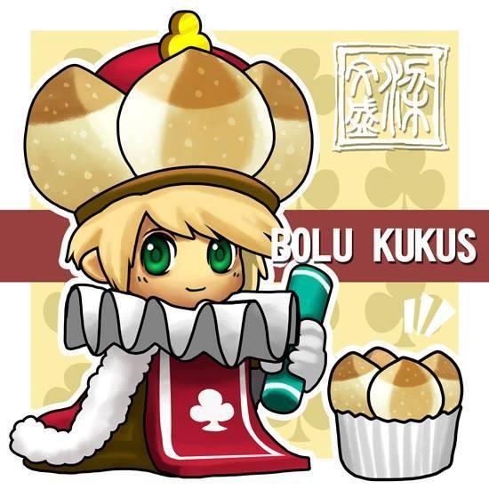 Bolu kukus Adalah roti yang dikukus biasanya diletakkan didalam kertas cup yang berbentuk bunga dan berwarna warni.