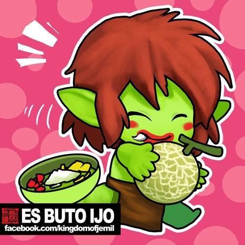 Es Buto Ijo Es Buto Ijo adalah es campur yang berasal dari Kediri. Biasanya es ini dibuat dari sirup melon berwarna hijau dan rasanya sangat menyegarkan.