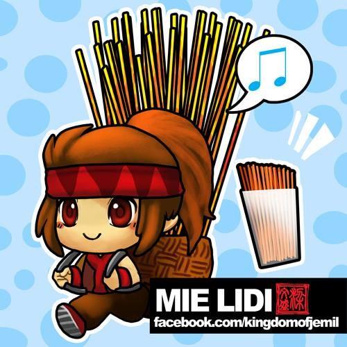 Mie Lidi Mie lidi adalah jajanan favorit anak-anak yang bentuknya menyerupai lidi dan diberi bumbu balado.