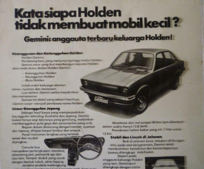 Iklan mobil Holden Gemini