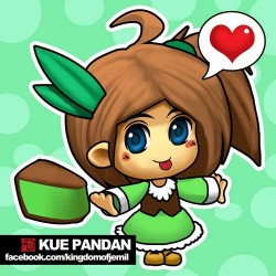 Kue Khas Indonesia Dijadikan Anime, Ini Jadinya..Lucu!