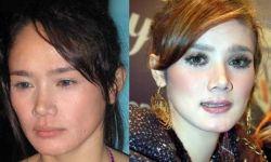 Beda Wajah Artis Indonesia Ketika Memakai dan Tanpa Make Up