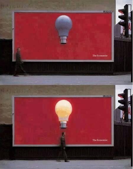 Ini bukan sekedar billboard biasa. Tapi mengandalkan teknologi yang mampu membuat lampu menyala ketika orang lewat di bawahnya.