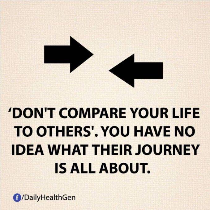 #9 Jangan bandingkan hidupmu dengan orang lain. Kamu memiliki kehidupan sendiri