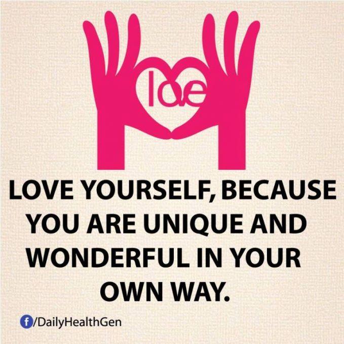 #17 Cintailah dirimu sendiri karena kamu unik dan keren dalam jalanmu sendiri