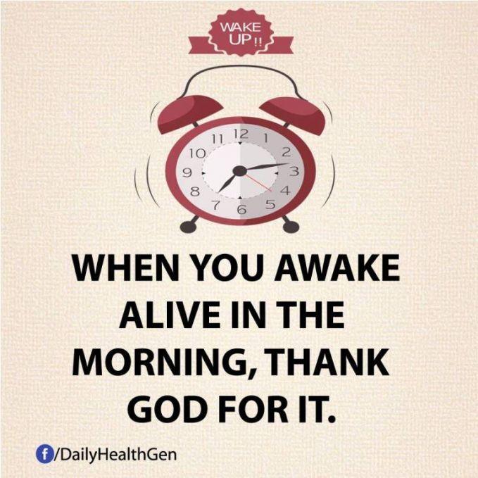 #18 Ketika kamu bangun, bersyukurlah kepada TUHAN
