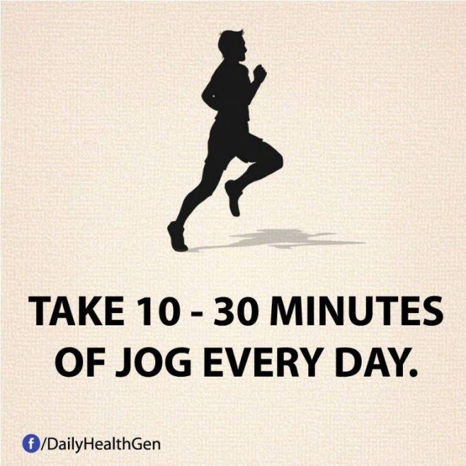 #19 Lakukanlah jogging 10-30 menit setiap hari!
