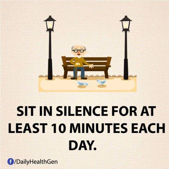 #20 Duduklah dalam keheningan setiap 10 menit atau lebih setiap hari