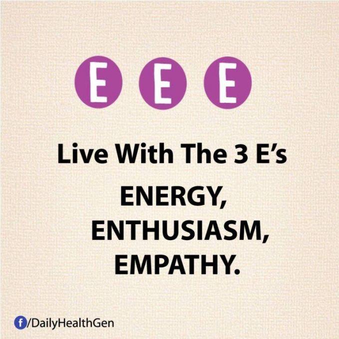 #23 Hiduplah dengan energi, antusias, dan empati.