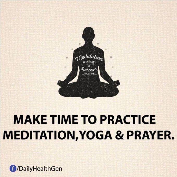 #26 Luangkanlah waktu untuk meditasi, yoga, dan berdoa.