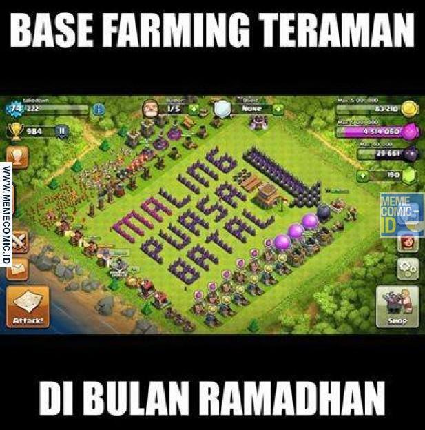 Meme Lucu Coc Ramadhan Terkeren Lucu Terbaru Tentang Coc