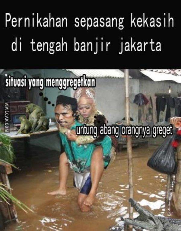 Banjir Gokil Lucu Teraru Greget