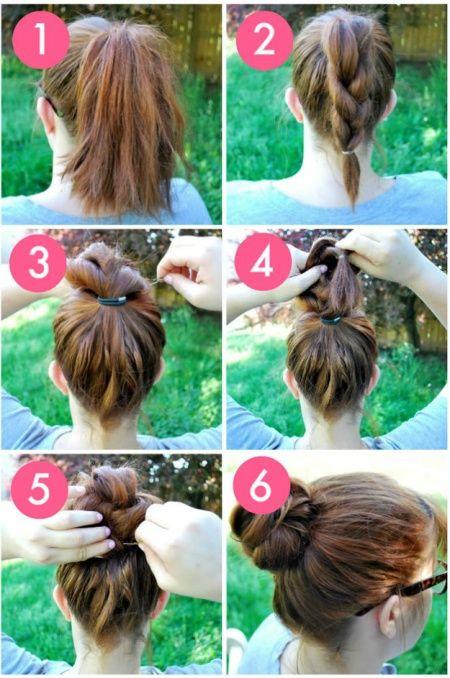 Buat yang punya rambut tanggung panjangnya juga bisa coba model yang ini.
