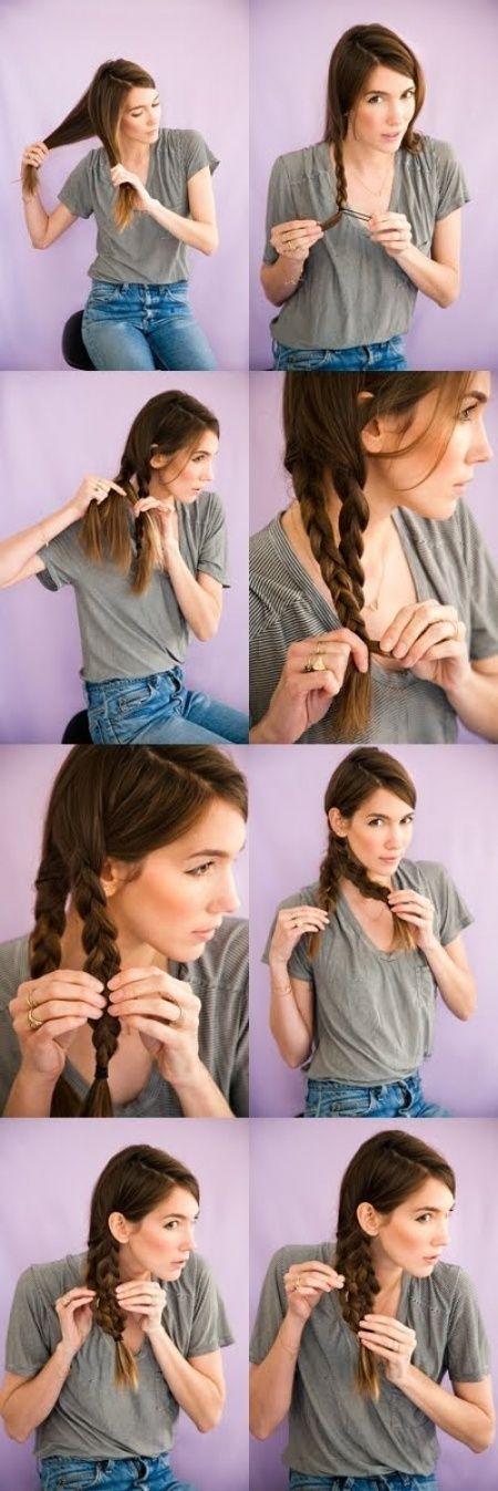 Bisa mengepang rambut sendiri kan? coba model yang ini.
