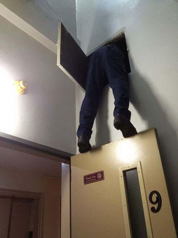 kalo pintunya goyang gimana jadinya tuh..