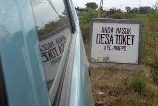 Desa Toket terletak di pulau Madura, tepatnya di Kabupaten Pamekasan tepatnya di Kecamatan Proppo. Mungkin terdengar aneh dan agak sedikit vulgar tapi memang begitu kenyataan nya. Kapan-kapan mampirlah .. siapa tau banyak Toge-nya :)
