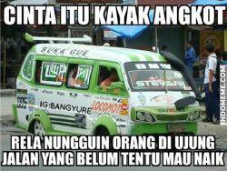Ngakak ! Kumpulan Meme Lucu Angkot Yang Ada di Indonesia