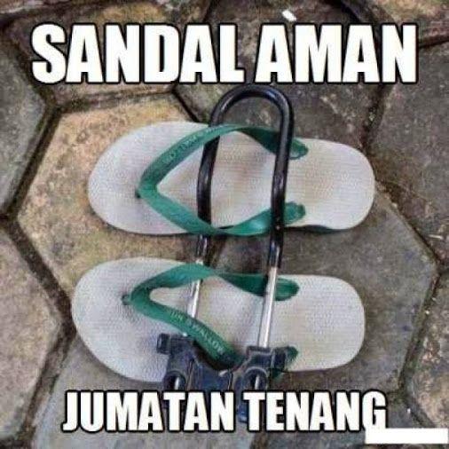 #11 Sandal aman, Jumatan tenang