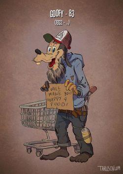 Gambaran Tokoh Para Kartun Legenda Ketika Mereka Berusia Lanjut Usia...!!!^^
