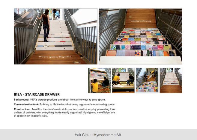 Iklan dari Produsen Meubel IKEA, produk kreatif yang bisa menyyimpan banyak barang sekaligus sangat indah