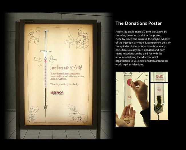 Iklan untuk layanan masyarakat untuk ajakan berdonasi.