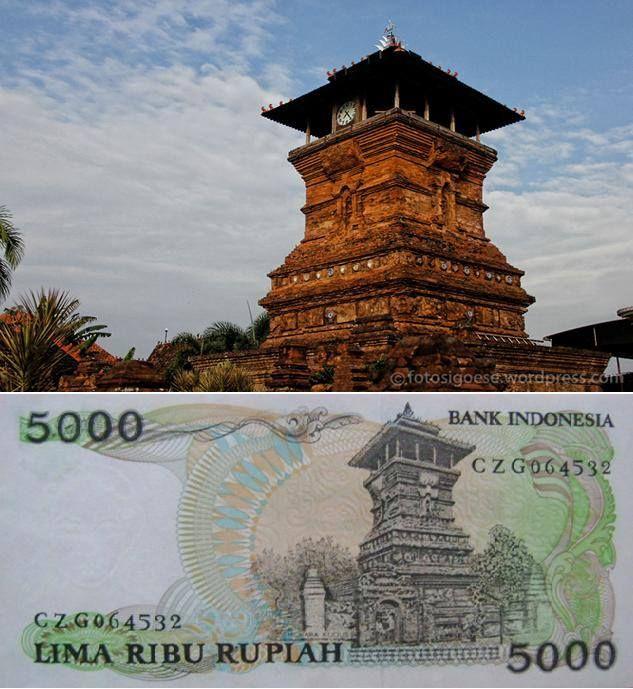Masjid Menara Kudus pada gambar uang pecahan 5000 rupiah