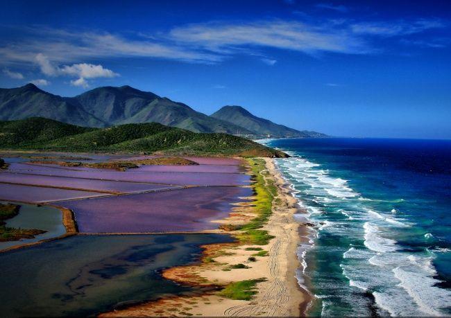 Resort Porlamar di Pulau Margarita, Venezuela.