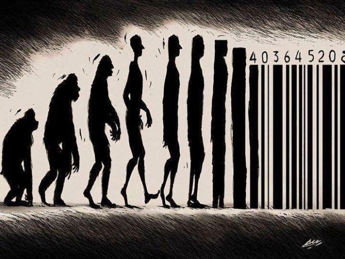 Evolusi manusia menjadi barcode (karna harga diri bisa dibeli mungkin?)