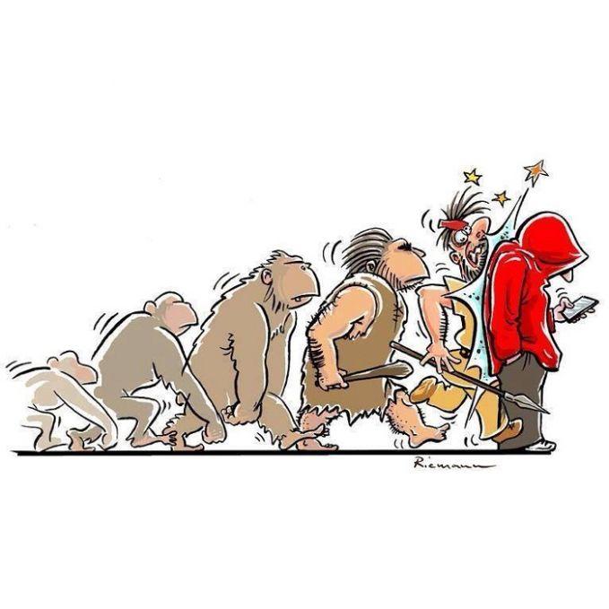 evolusi berhenti !