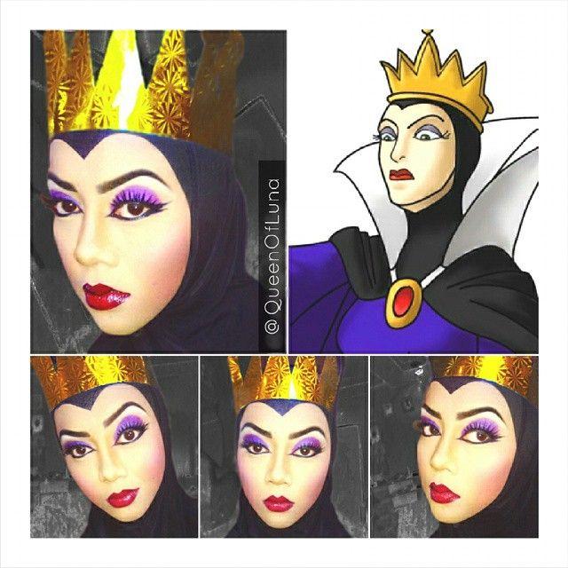 #15 Ratu Jahat di Snow White Ratu ini adalah ibu tiri dari Snow White. Ia tidak senang dengan Snow White yang cantik karena menjadi saingannya sebagai wanita yang cantik. Ratu mengirimkan seorang pemburu untuk membunuh Snow White. Saraswati mencoba riasan dari ratu ini. Bagaimana Pulsker? Sudah mulai terinspirasi kan! Ia juga mencoba beberapa superhero seperti Batman, Captain Amerika, dsb menjadi riasannya. Coba lihat pada http://www.pulsk.com/642483/