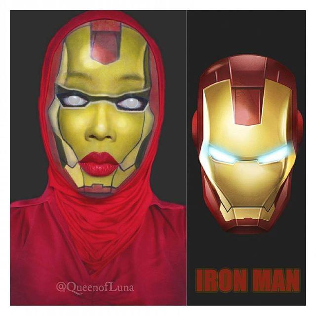 #7 Iron Man Iron Man merupakan orang kaya yang bernama Tony Stark. Ia membuat berbagai robot yang dapat digabungkan dengan dirinya untuk melawan kejahatan. KEREN KAN RIASANNYA!!!