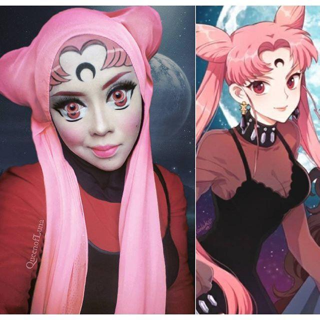 #12 Sailor Moon Tambah satu lagi tokoh anime di postingan ini. Usagi Tsuchino yang merupakan gadis polos akhirnya sudah dewasa dan menjadi seorang ibu. Ia bersama sailor-sailor yang lainnya melindungi bumi dari kejahatan. Imut ya tampilan riasan Saraswati pada gambar ini.