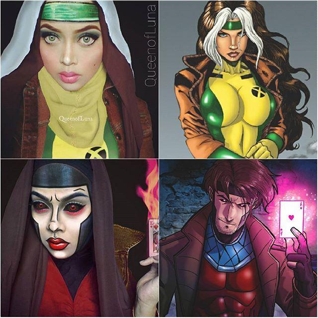 #13 Jane dan Gambit Kedua karakter ini ada pada X-Men. Yaitu cerita tentang kumpulan manusia yang memiliki mutasi gen dan memiliki kekuatan-kekuatan yang hebat. Jane memiliki kemampuan menyontek dari kekuatan orang lain yang disentuhnya. Gambit memiliki kekuatan dari kartu-kartunya. Bagaimana dengan tampilan Saraswati ini?