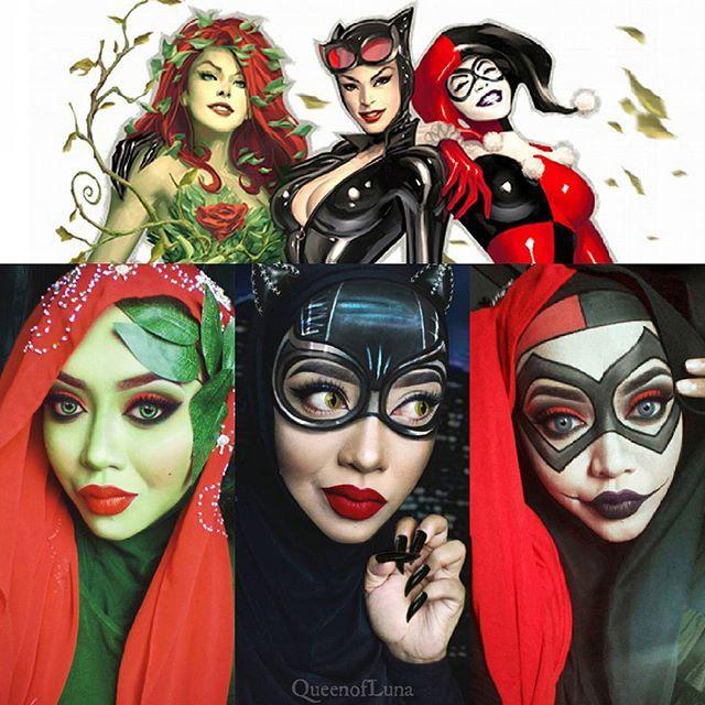 #15 Inilah tokoh-tokoh wanita kadang mengganggu Kota Gotham yang dijaga oleh Batman. Poison Ivy yang memiliki kemampuan tumbuhan beracun. Cat woman yang cerdik seperti kucing. Dan Harley Quinn yang memiliki kostum badut saat melakukan berbagai aksinya. Di gambar bawahnya adalah Saraswati.