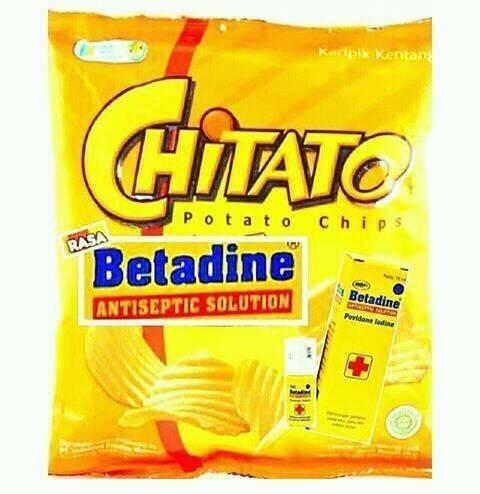 chitato Rasa Betadine, mengobati hati yang terluka