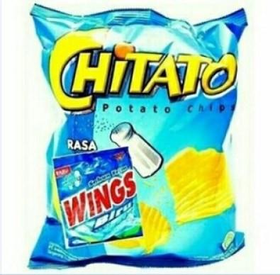 Mau putih? makan chitato rasa wings bisa bikin kamu lebih putih berkilau