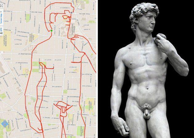 #4 DAUD Patung Daud yang dibuat oleh Michaelangelo di Italia ini juga digambar oleh Stephen Lund.