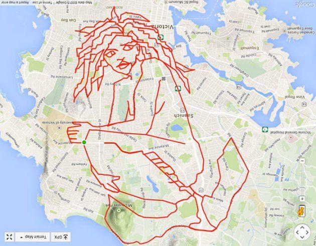 #6 Putri Duyung Gambar ini cukup rumit. Untuk membuat gambar ini, Stephen harus melewati jalan sejauh 220km.