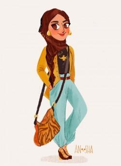 10 Ilustrasi Keren Dari Putri Disney Jika Hidup di Abad Ke-21