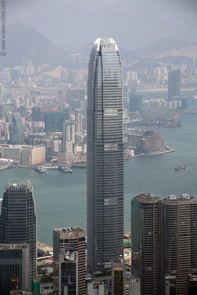 10. Two International Finance Centre Lokasi : Hong Kong Tinggi : 415 m Dubangun tahun : 1997- 2003 Dibuka tahun : 2003 Jumlah lantai : 88 International Finance Centre adalah sebuah pengembangan komersial terpadu di tepi Hong Kong Distrik Pusat. Tower IFC juga menjadi bangunan tertinggi kedua di Hong Kong, di belakang International Commerece Centre di Kowloon Barat.Juga bangunan tertinggi keempat di wilayah Cina Daratan dan kedelapan gedung perkantoran tertinggi di dunia berdasarkan ketinggian struktural,dengan tinggi atap, hanya Taipei 101 , Shanghai World Financial Center , Willis Tower ,International Commerece Centre dan Burj Khalifa melebihi itu. Ketinggian IFC mirip dengan World Trade Center yang telah runtuh.