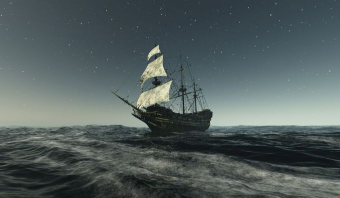 10. Lady Lovibond Beberapa penduduk setempat menyaksikan sebuah kapal layar bertiang tiga sedang berlayar, namun menuju ke arah tepi pantai. Ketika mereka mengira bahwa kapal tersebut akan menabrak, tiba-tiba kapal itu hilang entah ke mana. Setelah itu, penampakan mengenai kapal hantu ini jarang terjadi. Dikabarkan, penampakan kapal Lady Lovibond terjadi setiap 50 tahun sekali.
