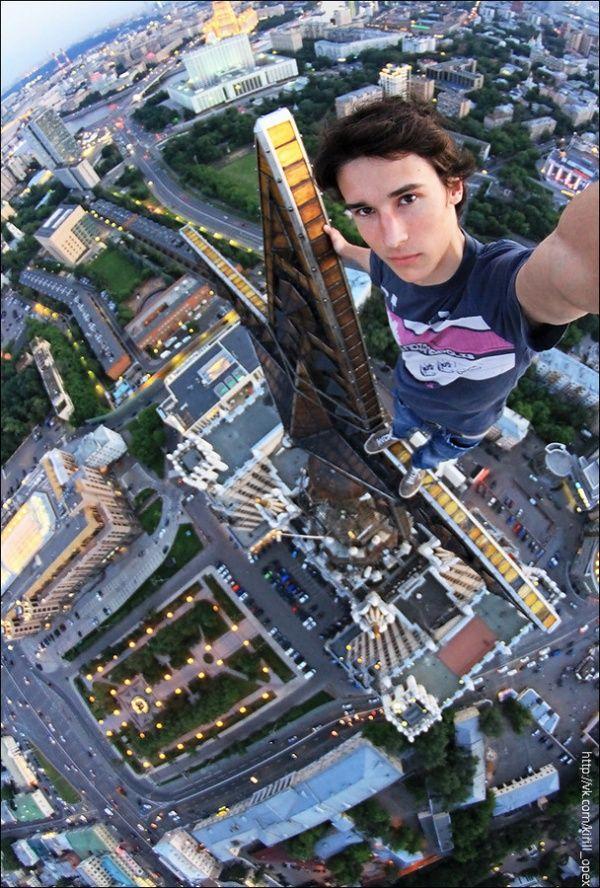 Selfie yang sangat menegangkan!