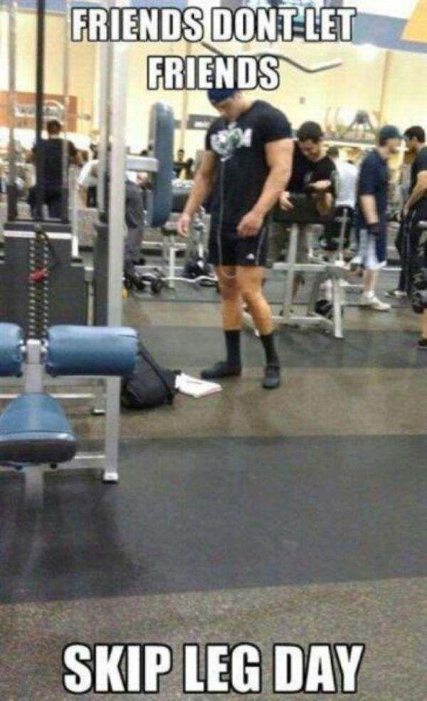 yang di fitness jangan lengen doang dong... kakinya juga tuh..
