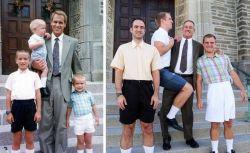 3 pria bersaudara ini me-remake foto-foto masa kecil mereka dengan pose dan pakaian yg sama sebagai kado ulang tahun untuk mama mereka kunjungi www.zeropromosi.com
