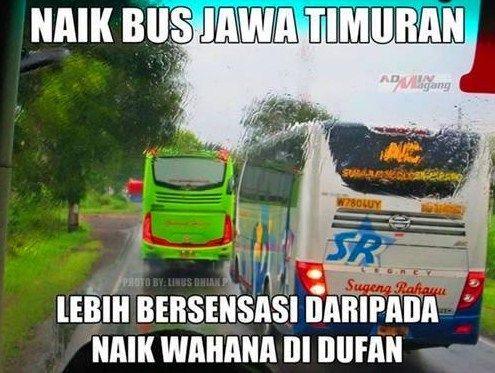 #9 WAHANA Naik bus Jawa Timuran juga seru! Lebih bersensasi daripada naik wahana di Dufan.
