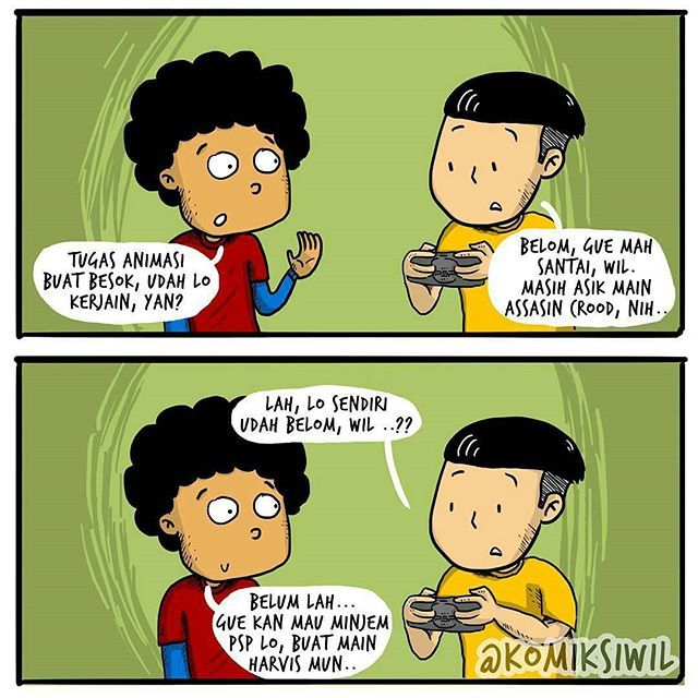 #8 SOK NASEHAT Nah yang satu ini juga salah satu ciri orang Indonesia pada umumnya. Niatnya sih nasehatin temennya supaya berbuat seperti apa yang dinasehatinya tapi yang terjadi malah ia sendiri belum melakukannya. @komiksiwil