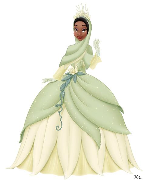 #5 princess tiana juga masih emmiliki ciri khasnya. rambut hitam ala prince Tiana dirubah menjadi ikat dalam kepala yang berwarna hitam