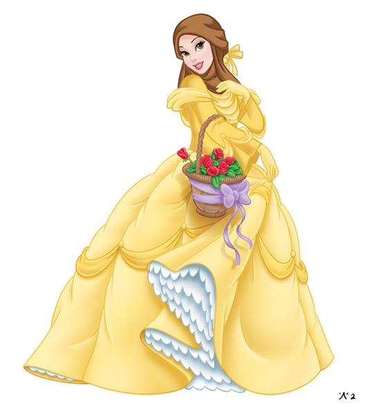 #6 Belle the beauty and the beast. Rambut terikat belle yang berwarna coklat bisa di modifikasi dengan hijab coklat yang cantik ini.