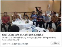 Bapak Mantan Presiden RI ke-6 SBY yg membanding2kan pemerintahannya dengan pemerintahan Presiden sekarang Joko Widodo mendapat kritikan pedas dari seorang Blogger.